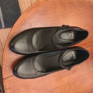 Camper black Mary jane leather rubber heels 40